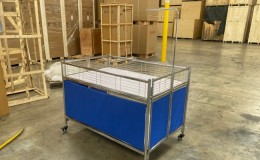 Promotion table Retail Island Show Fruit vegetable display FVD39