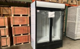 Clearance NSF two glass door refrigerator 072602