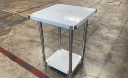 All Stainless Steel Table  NSF 24W x 24D x34H inches