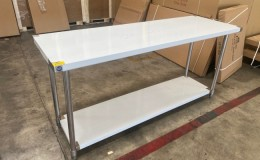 All Stainless Steel Table NSF 72W x 24D x34H inches