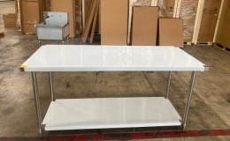All Stainless Steel Table NSF 72W x 30D x34H inches