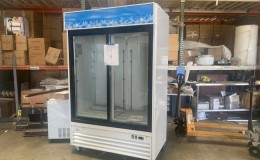 Clearance NSF Two slide glass door refrigerator  082301
