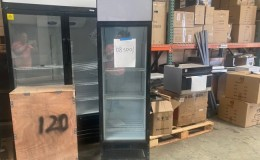 Clearance  NSF 72 inches high glass door refrigerator 083001