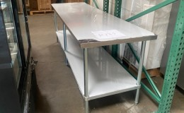 Clearance Stainless Steel Table 84W x 30D x24H ins 10185