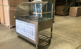 Clearance Warmer car Stainless Steel Electric Steam Table 210313